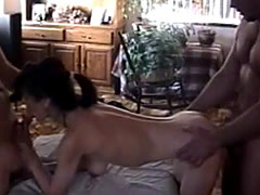 Slut Getting 2 Cocks 1