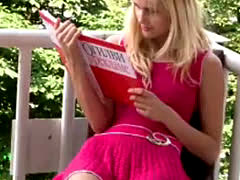 Nice Girl Reading A Book