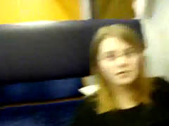 Young 19yo Teen Masturbating On Train