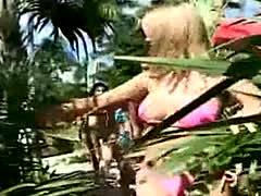 Handjob By 4 Bikini Girls On A Bench