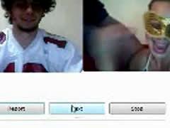 Cfnm Webcam Girl Gives BJ While Voyeur Jerks
