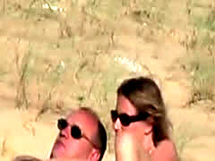 A French Couple Mutual Masturbation On Beach