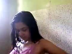Selfshot Video Of Russian Girl Showering