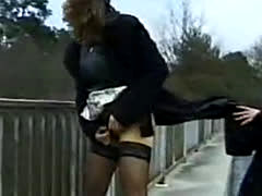 Slut Shows How She Pees Standing Up