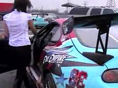 Girl In Toyota Supra