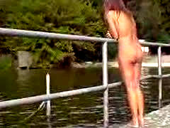Nudist Wife At Lake 2010