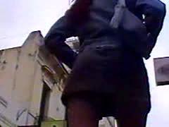 Voyeur Upskirt Stolen Video  White Thongs 07