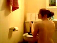 Crazy Webcam Chick Riding Huge Dildo