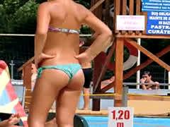 Hot Teen With Fabulous Ass Micro Thong Bikini