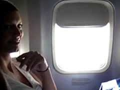 Masturbating Her Pussy In The Airplane