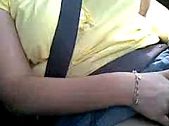 Milf Masturbating Orgasm In The Car On The Highway