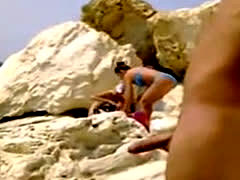 Two Hot Bikini Girls Flashed By Guy On The Beach