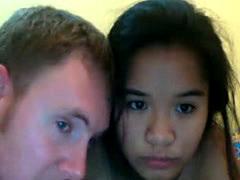 White Guy Pounds Thai Slut Pussy On Cam