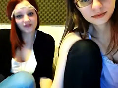 Two Girls Tease Boys On Cam