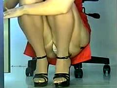 Sexy Secretary Upskirt