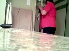 Mature Jenny Caught On Shower Spy Cam