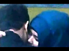 Hijab Teacher Caught  Kissing By Spycam