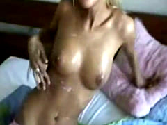 Slutty Blonde Sucks And Gets Jizzed