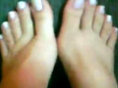 Cute Feet White Nails !