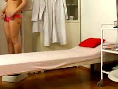Redhead teen caught on medical spy cam
