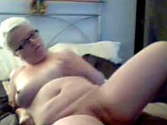 50 Years Old Texan Blondie On Home Webcam