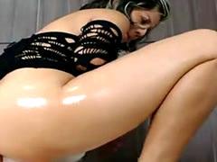 Amazing Anal Masturbation Big Dildo