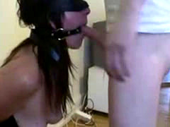 fucking cock slave Danielle in her throat