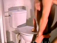 Training my slave in the bathroom