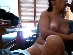 Sexy italian woman sucks and gets fingered