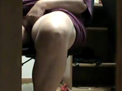 Midnight under the desk masturbation my mom