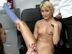 Blonde Amateur With Dildo In Money Talks Stunt