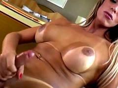 Big tits shemale Camyle Victoria jerkoff