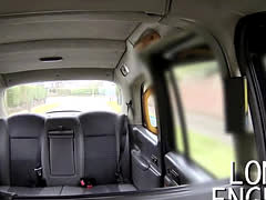 Huge tits British blonde anal banged in fake taxi reality voyeur