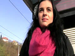 Bent over amateur banged in public pov