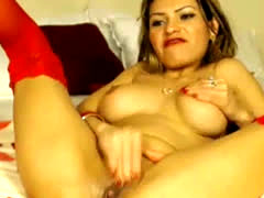 Hot Busty Latina Solo Playtime