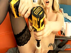 Gorgeous Blonde Dildo Drills her Pussy