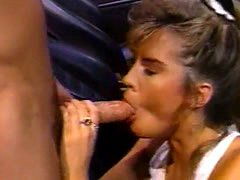 Young blonde fucked in a car in garage