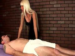 Sassy Blonde MILF Loves Giving Teasing Handjobs