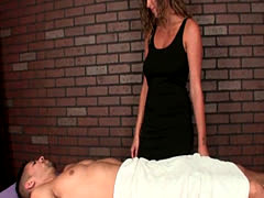 Horny Massage Duo Get Turned On By Teasing A Poor Sap