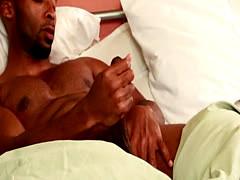 Powerful black stud assdrilling choco jock