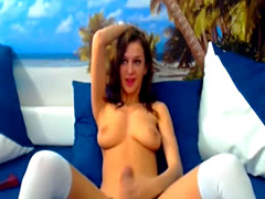 Hot Shemale Babe Jenny Plays her Cock