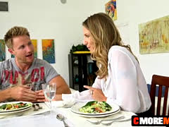wining, dining and pussy eating with MILF Alina