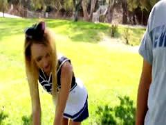 Teen cheerleader humped