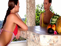 Attractive model babes exotic lesbian love