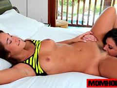 Eva Lovia and step mom India Summer gets it on together