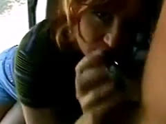 Amateur Blowjob In Van