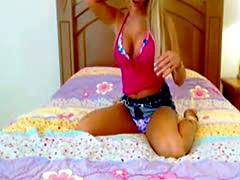HOt Blonde Fingering her Pussy on LIve WEbcam