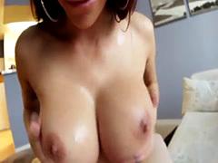 Titfucking hot slut spunk