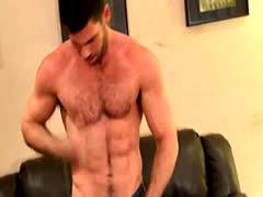 Muscled jocks sperm solo
