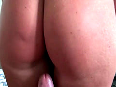 Big ass amateur girlfriend gets anal banged
